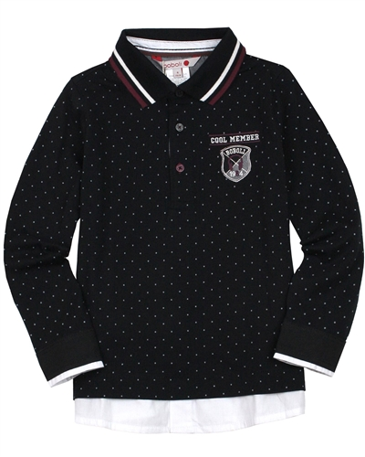 Boboli Boys Polo Shirt in Layered Look