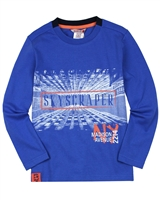 Boboli Boys T-shirt with Skyscraper Print