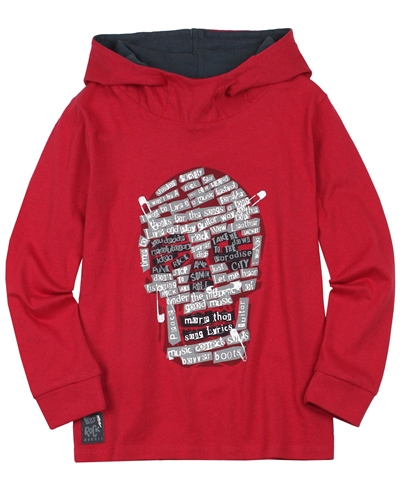 Boboli Boys Hooded T-shirt with Scull Print