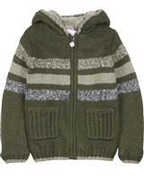 Boboli Boys Knit Cardigan with Sherpa Fleece