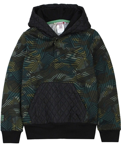 Boboli Boys Sweatshirt with Quilted Hood