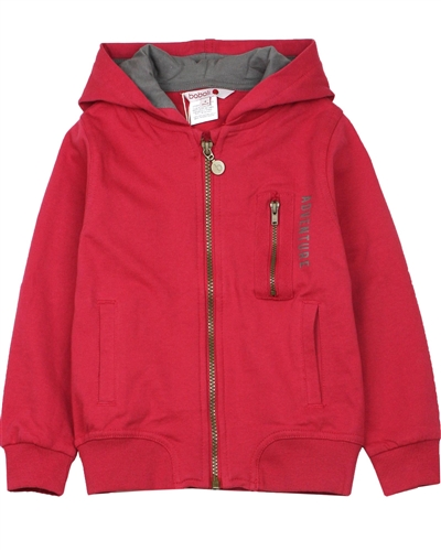 Boboli Boys Zip Front Hooded Sweatshirt