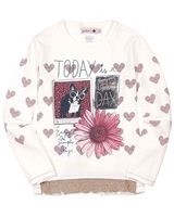 Boboli T-shirt with Heart Print