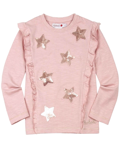 Boboli T-shirt with Sequin Stars
