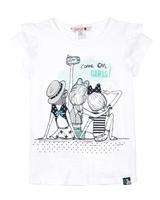 Boboli Girls T-shirt with Ruffled Sleeves