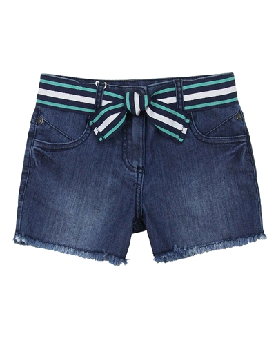 Boboli Girls Denim Shorts with Belt