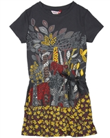 Boboli Girls Jersey Dress with Jungle Print