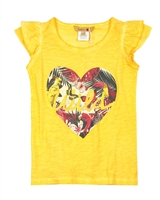 Boboli Girls T-shirt with Jungle Heart Print