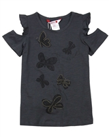 Boboli Girls T-shirt with Open Shoulders