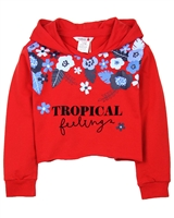 Boboli Girls Cropped Sweatshirt