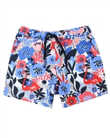 Boboli Girls Floral Print Terry Shorts