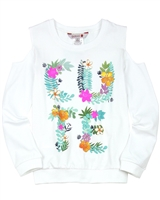 Boboli Girls Sweatshirt with Open Shoulders