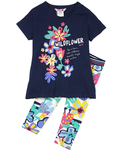 Boboli Girls Tunic and Multi Colour Leggings Set