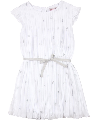Boboli Girls Chiffon Plisse Dress