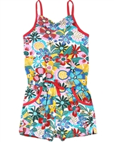 Boboli Girls Beach Romper in Floral Print