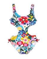 Boboli Girls One-piece Swimsuit in Floral Print