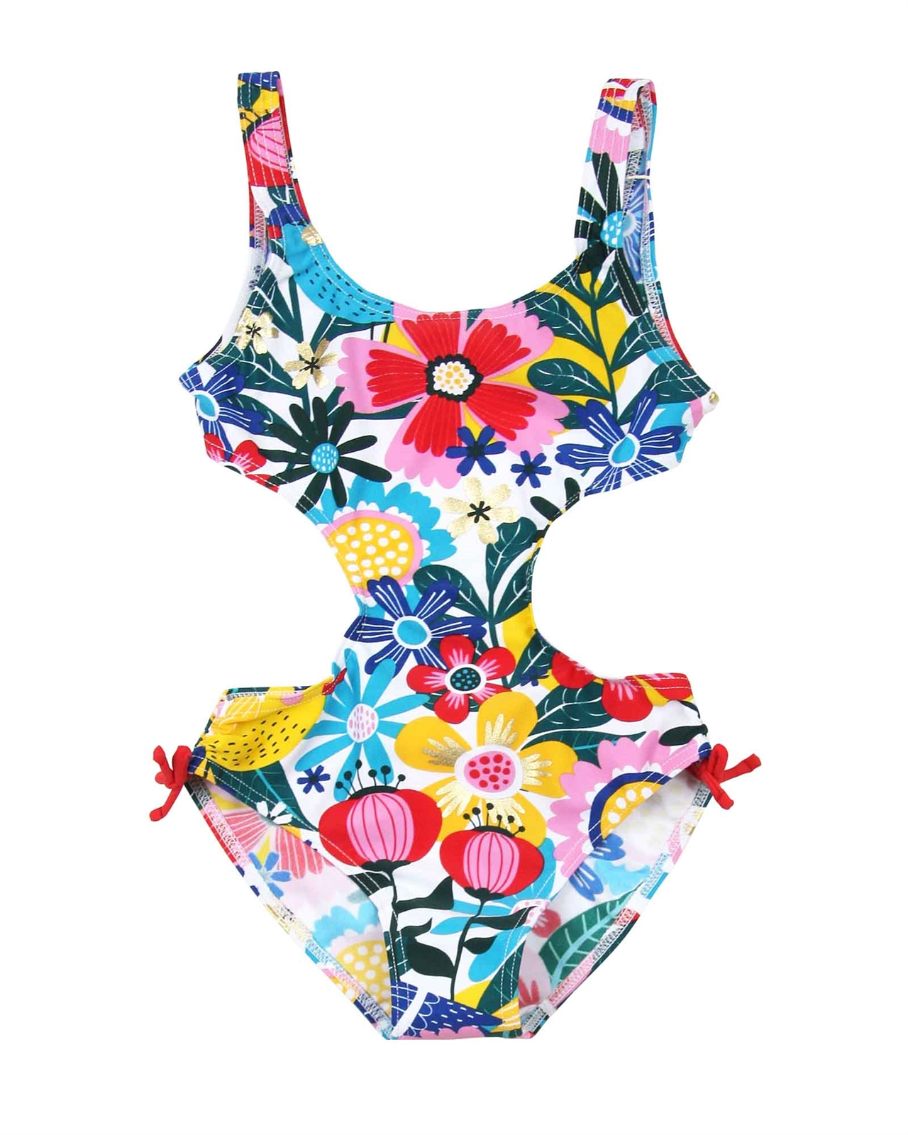 a8091f6de0 BOBOLI Girl's One-piece Swimsuit in Floral Print, Sizes 4-16 ...