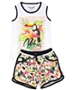 Boboli Girls Beach Top and Shorts Set