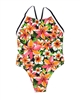 Boboli Girls One-piece Swimsuit in Tropical Flowers Print