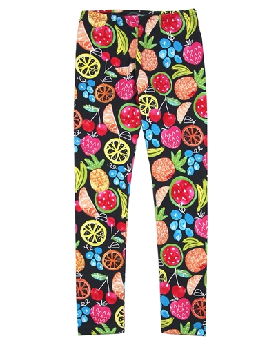 Boboli Girls Leggings In Fruit Print