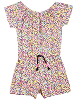Boboli Girls Jersey Romper in Small Floral Print