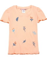 Boboli Girls Rib Knit T-shirt with Embroidery