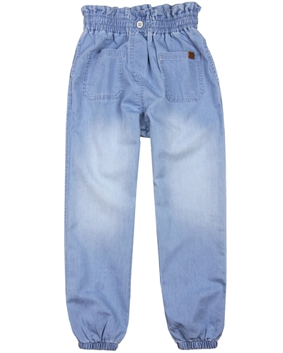 Boboli Girls Denim Pants with Elastic Cuffs