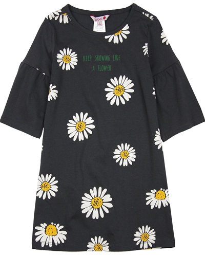 Boboli Girls Jersey Dress in Daisy Print