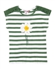 Boboli Girls Striped Top with Daisy Applique