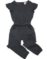 Boboli Girls Jumpsuit in Solid Grey