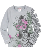 Boboli Girls Long Sleeve Top with Zebra Print
