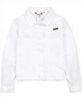 Boboli Girls Twill Jacket with Lace Trim