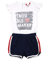 Boboli Girls Two-in-one Look Romper