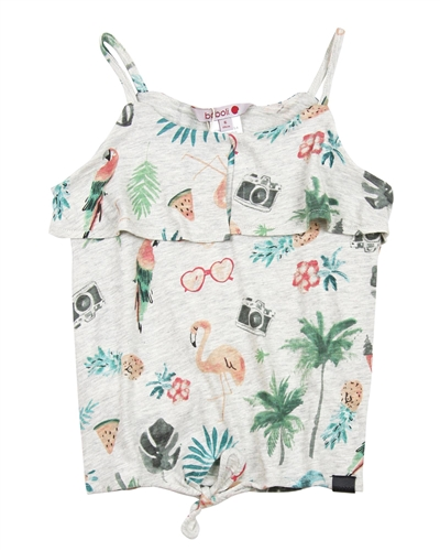 Boboli Girls Tank Top with Knot