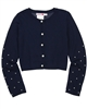 Boboli Girls Loose Knit Cardigan with Pearls