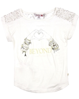 Boboli Girls T-shirt with Sequin Shoulder Top