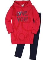 Boboli Girls Hooded Sweatshirt and Leggings Set