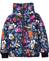 Boboli Girls Short  Coat in Floral Print