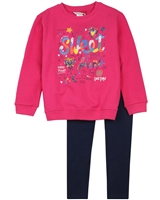 Boboli Girls Sweatshirt with Print and Leggings Set