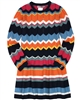 Boboli Girls Multicolour Striped Knit Dress