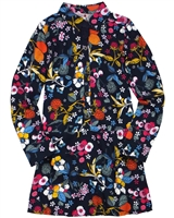 Boboli Girls Viscose Dress in Floral Print