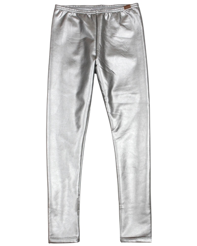 Boboli Girls Silver Metallic Leggings