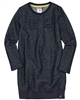 Boboli Girls Shiny Sweatshirt Dress with Bow