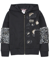 Boboli Girls Hooded Sweatshirt with Faux Fur