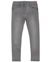 Boboli Girls Stretch Denim Pants in Light Grey