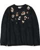 Boboli Girls Shag Knit Pullover with Sequins