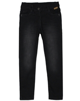 Boboli Girls Stretch Denim Pants in Black