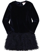 Boboli Girls Velour Party Dress with Shag Bottom