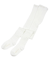 Boboli Girls Tights with Crystals in White