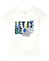 Boboli Girls T-shirt with Embroidered Sleeves